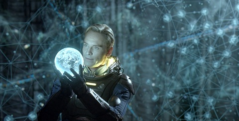 David (Michael Fassbender) investigates Alien technology in 'Prometheus'.