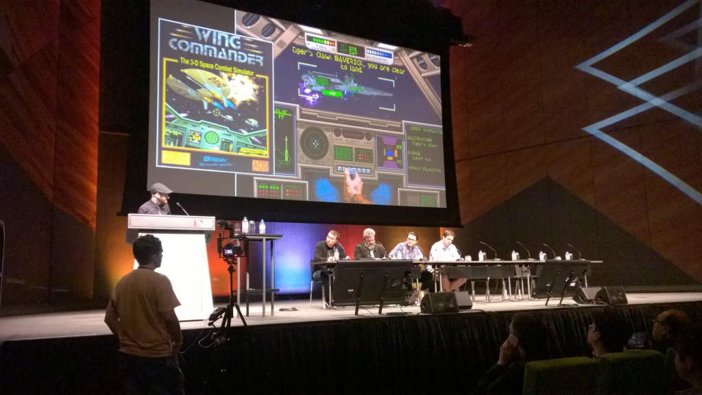 Talking Star Citizen with Mr Wing Commander himself, Chris Roberts (first seated on left).