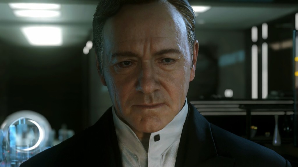 Kevin Spacey, or at least his digital likeness, makes his presence known throughout the game.