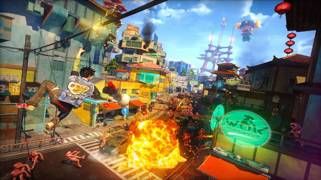 In Sunset Overdrive, the apocalypse has never looked so bright and cheerful.
