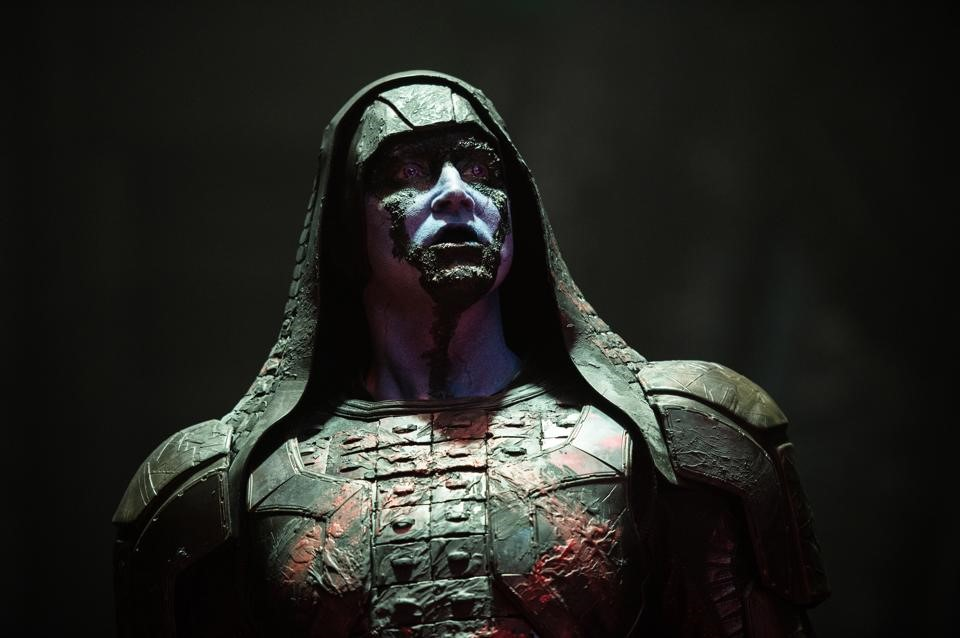 Ronan the Accuser (Lee Pace) has an axe to grind... literally.