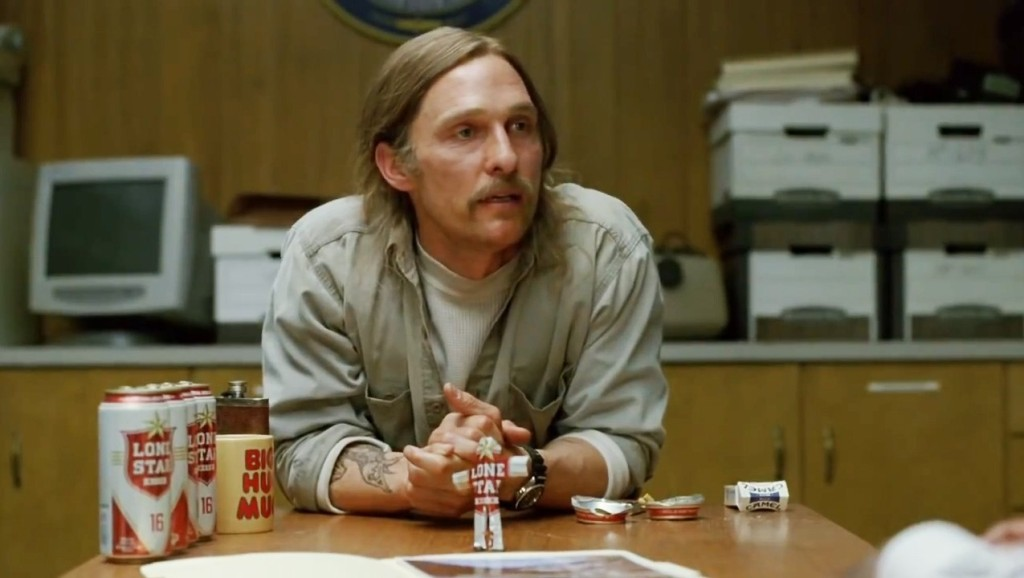 Matthew McConaughey looking a little worse for wear in True Detective.