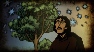 The tale of Giordano Bruno, told in one of the most striking animated sequences of the whole series.