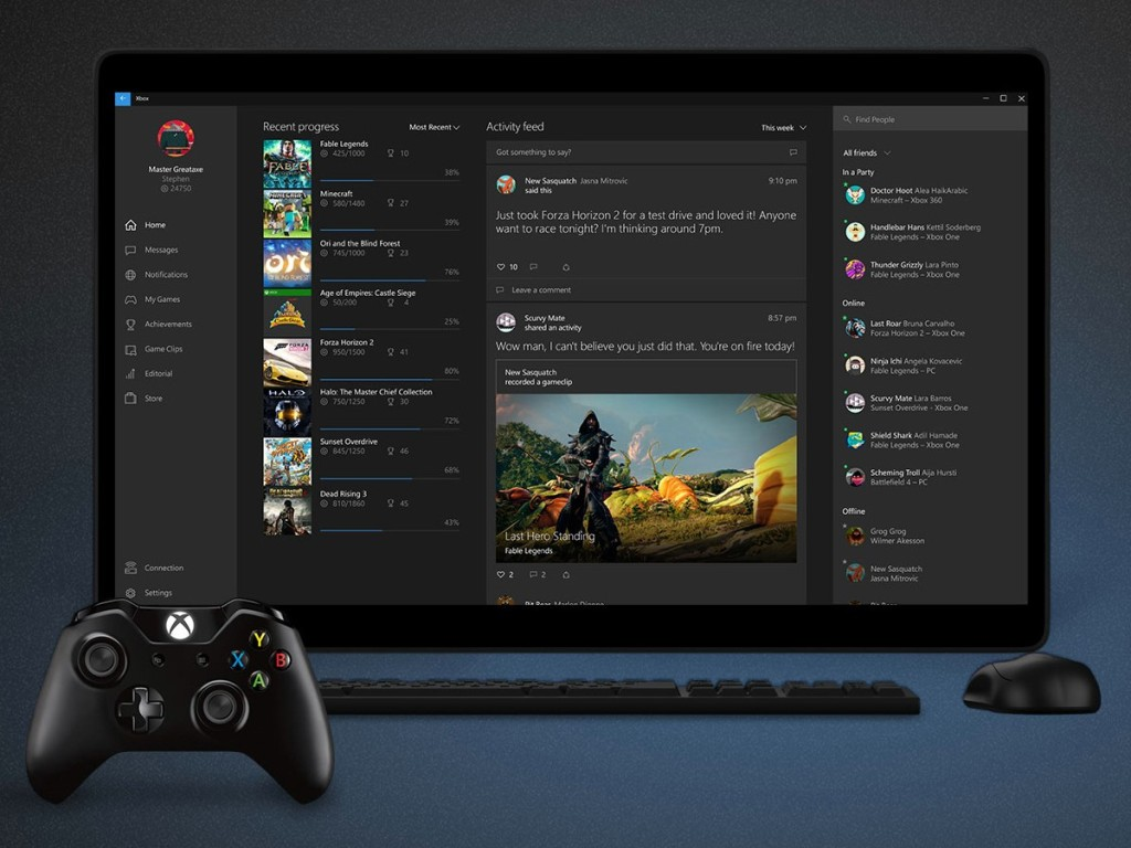SmartGlass on steroids... meet Xbox Hub on Windows 10.