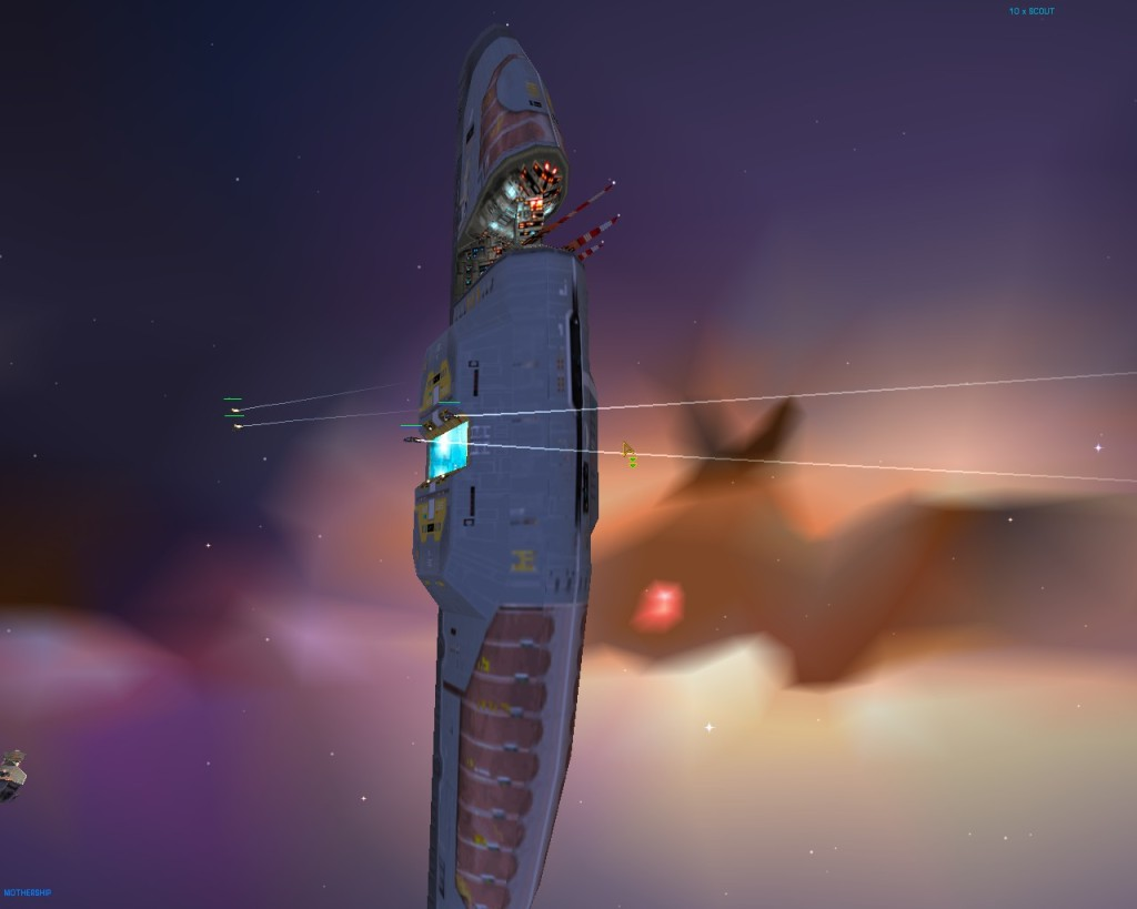 The original version of Homeworld still looks great thanks to OpenGL support.