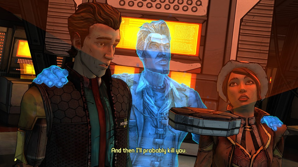 Even as a dead man's hologram, Handsome Jack still has a way with words.
