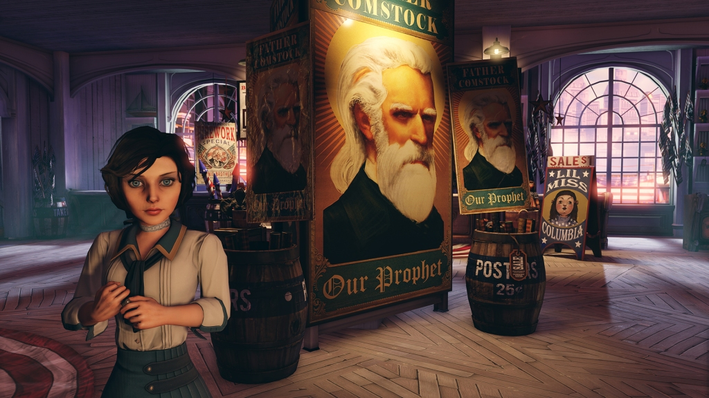 In Bioshock Infinite, your character's interactions with Elizabeth go a long way to making the world feel real.