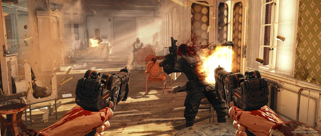 Going in all guns blazing... he's not called Blazkowicz for nothing.