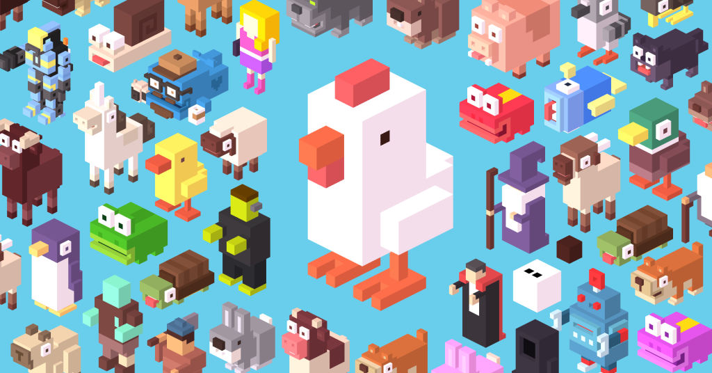 Crossy Road avatars... gotta get them all... but only if you want to.