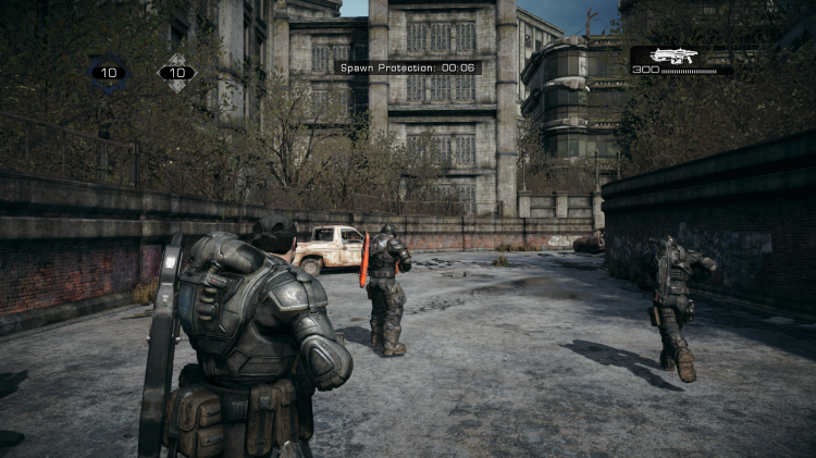 The spawn point in Gridlock is a view many Gears of War players would be familiar with over the years.