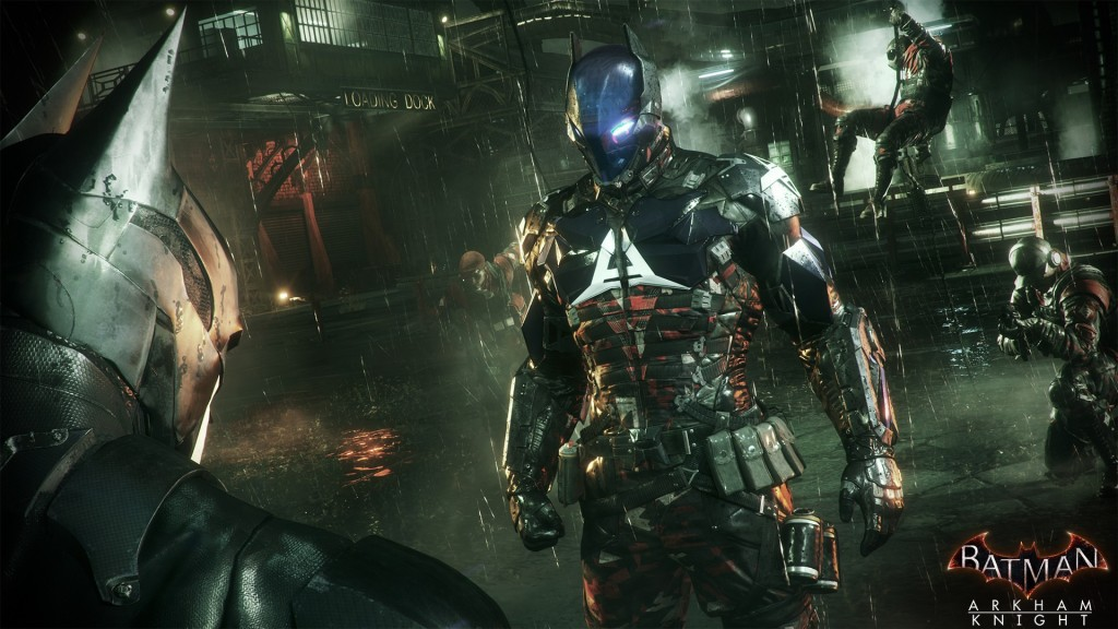 The mysterious Arkham Knight poses a constant challenge to Batman.