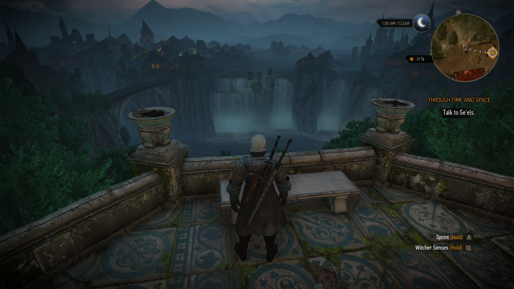 Geralt gets to see some amazing scenery.
