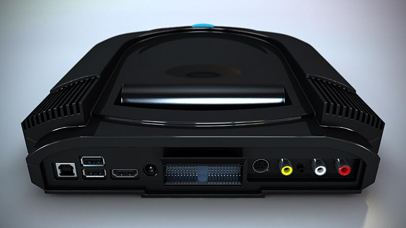 The rear of the console is packed with enough ports to support most user's needs.