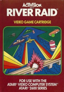 The original River Raid game box art also reflected the game's visuals nicely..