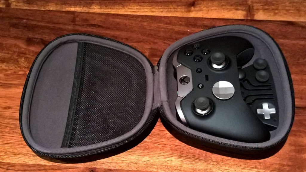 The controller fits snugly in its case... a place you'll be keeping it for most of its life.