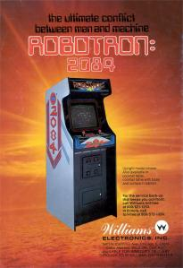 Flyer for the Robotron: 2084 arcade machine.