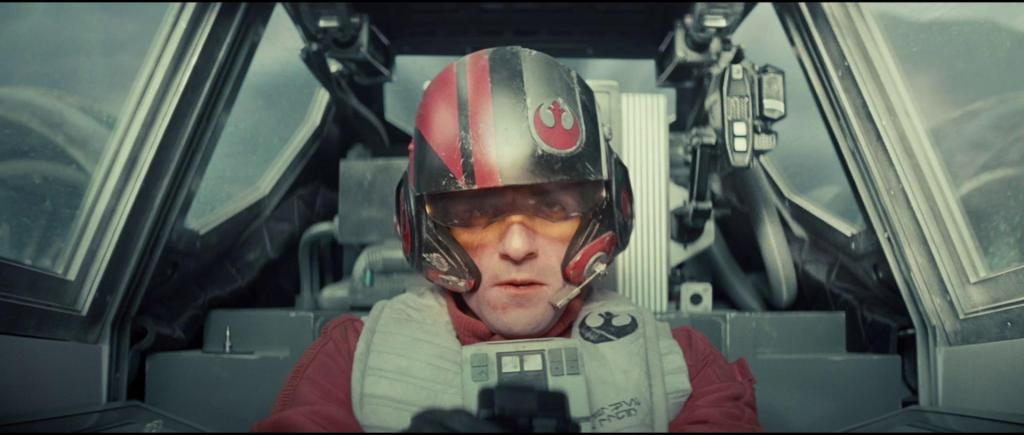 Poe Dameron (Oscar Isaac) channelling his inner Wedge.