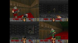 DOOM on the Xbox 360 allowed splitscreen multiplayer which is a perfect fit for the game's deathmatch mode.