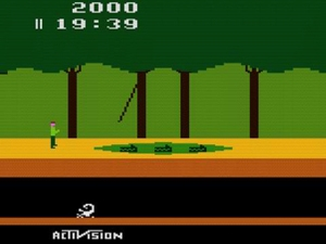 Pitfall Harry's adventure begins.