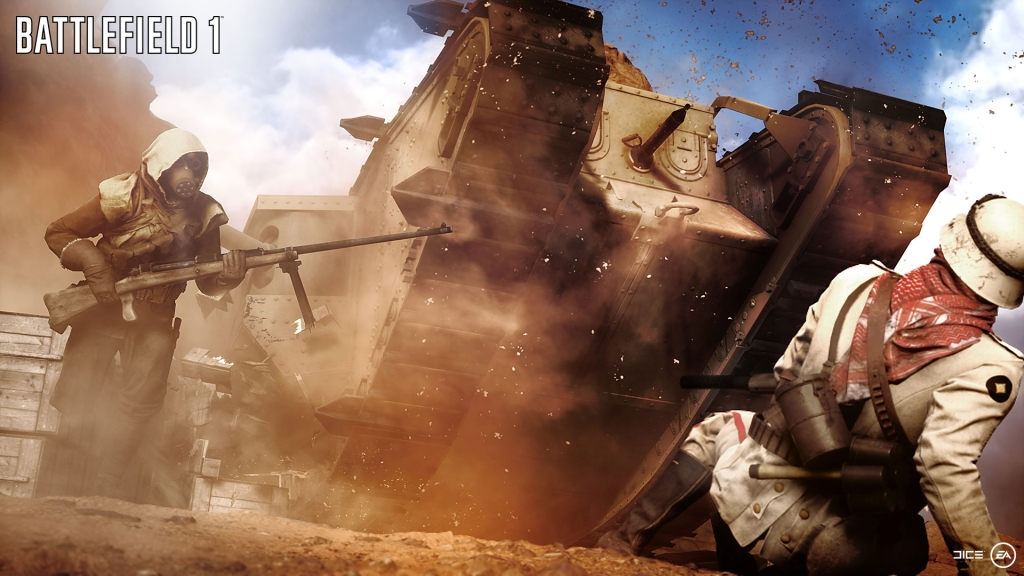 Tanks, deserts and big guns... yep, still Battlefield.
