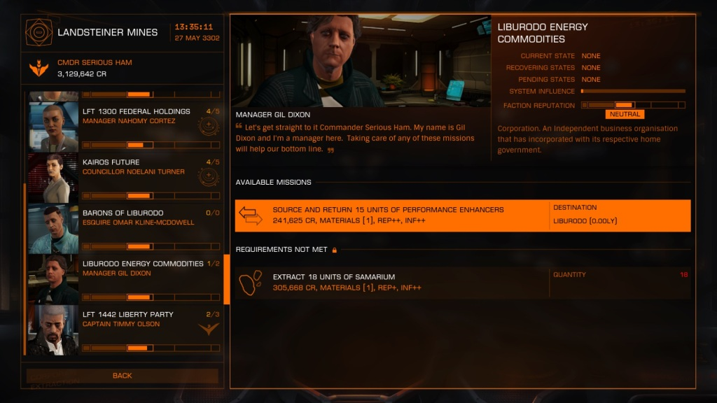 The new Mission Board helps you to find the jobs you want. (Xbox One screenshot)