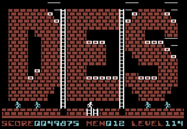 Can a whole level be an Easter Egg? In the case of Lode Runner it can be with a level made up of Doug Smith's initials. (C64 version)
