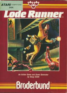 Lode Runner's iconic typeface has been there from the very beginning.