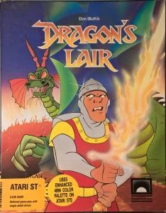 Dragon's Lair box for the Atari ST