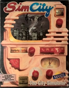 SimCity box for the Atari ST