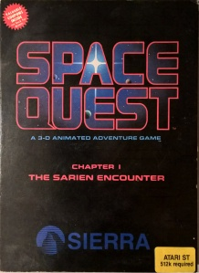 Space Quest box for the Atari ST