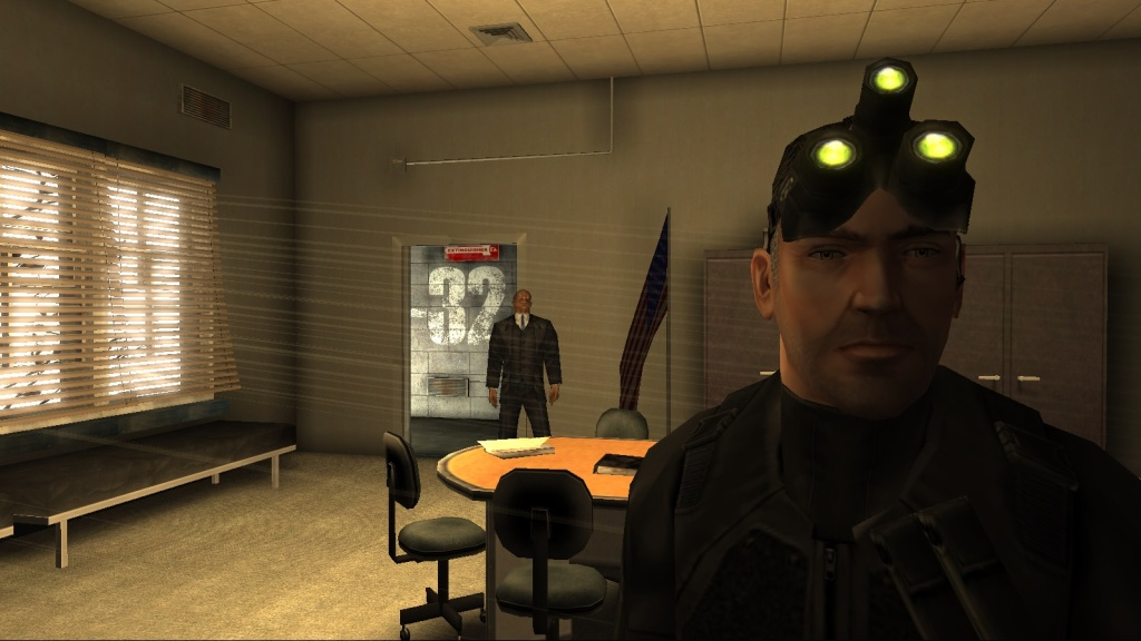Meet Sam Fisher: grizzled veteran and high tech ninja all rolled into one butt kicking dude. (PC screenshot)