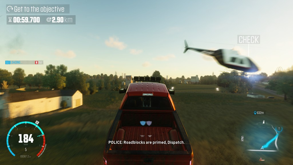 Your first taste of driving in The Crew gives you a couple of close calls with low flying aircraft.