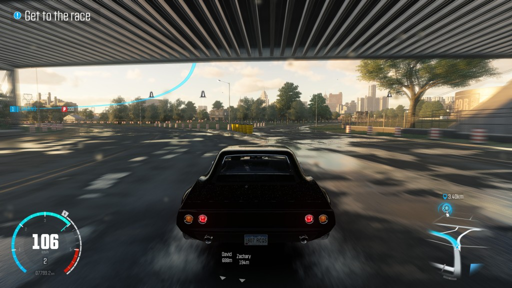 The game's UI and markers seem less intrusive on the higher screen resolution.