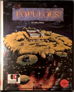 Populous box for Atari ST