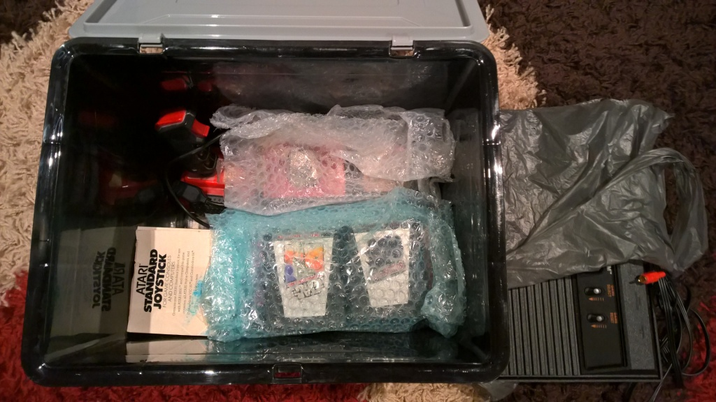 My big crate of 2600 goodies.
