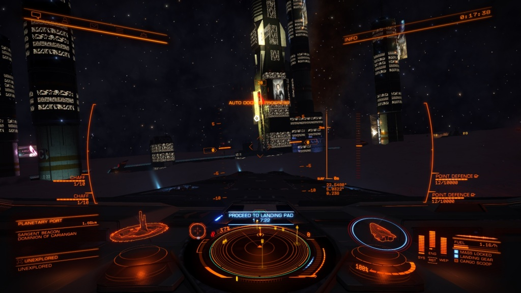 Having ground mysteriously appear just as you are about to land  at a station does not work out well for you and your ship.