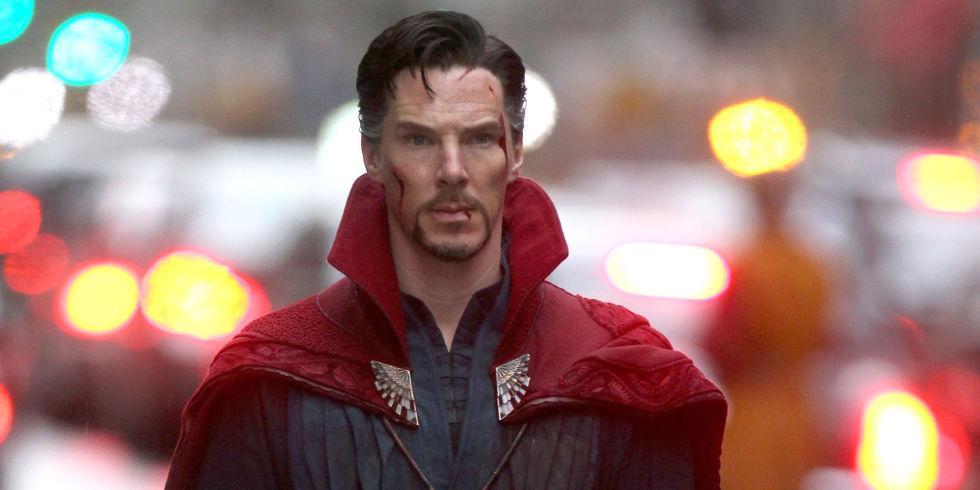 Doctor Strange (Benedict Cumberbatch) rocking his new cloak.