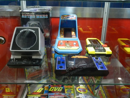 Handheld gaming machines.