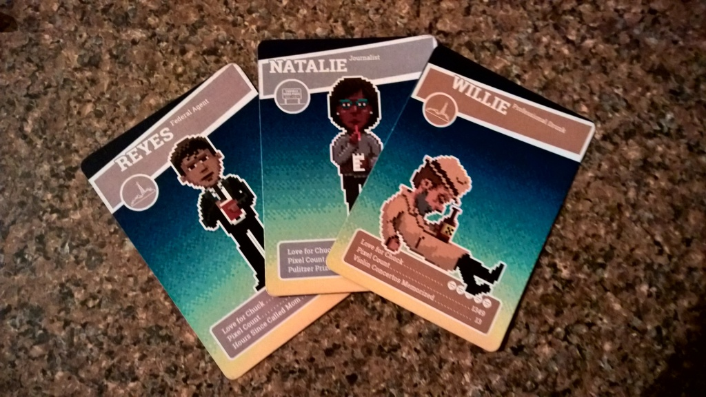 Some cool little cards given away to those who checked out Thimbleweed Park.