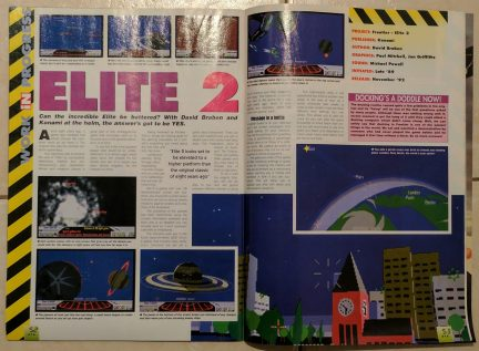 This was where I had my first real exposure to the game Elite, though previews and later reviews of its sequel Frontier: Elite II.
