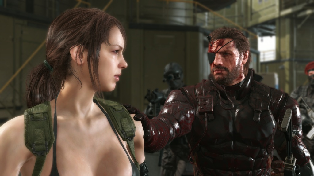 If you eliminate Quiet (left) when you first encounter her, you'll miss out on a useful companion during the rest of the game.
