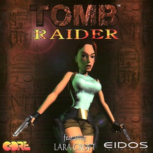 The original cover design for Tomb Raider (PC version).