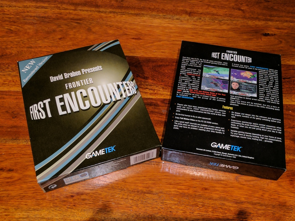 The front and back of the game box.