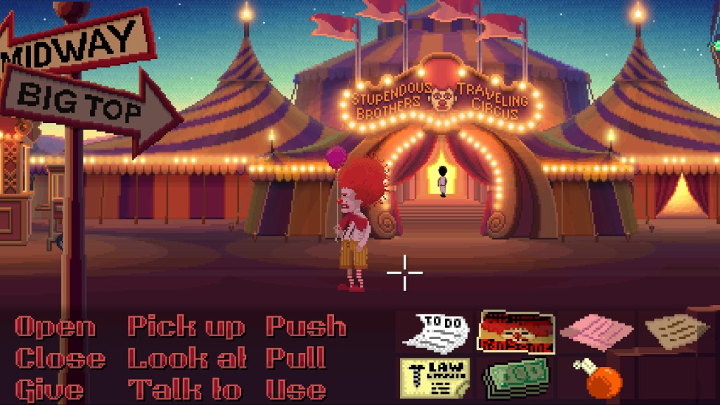 I don't think it can be an adventure game without a circus in it.