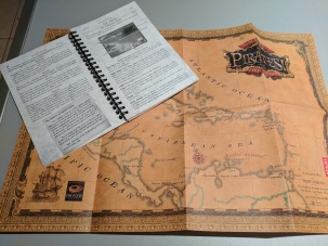 No good pirate is without their trusty map... or instruction manual.